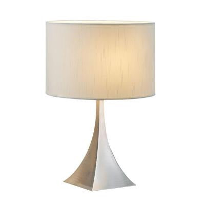 Luxor Brushed Nickel 20.5 in. Table Lamp