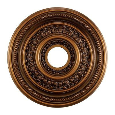 English Study 18 in. Antique Bronze Ceiling Medallion