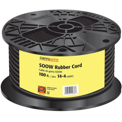 100 ft. 14/4 SOOW Cord - Black