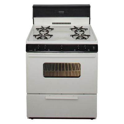 30 in. 3.91 cu. ft. Gas Range in Biscuit