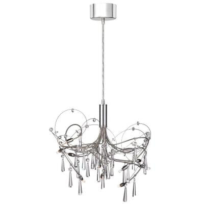 Firefly 10-Light Polished Chrome Crystal Chandelier