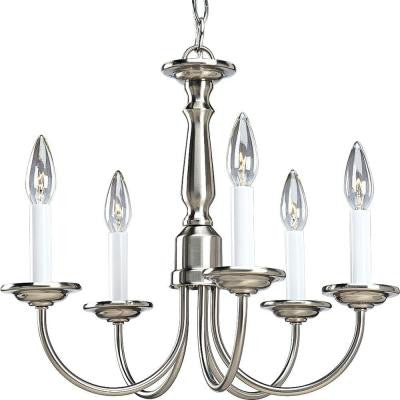 5-Light Brushed Nickel Chandelier