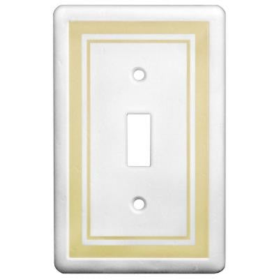 1 Toggle Wall Plate - Beige