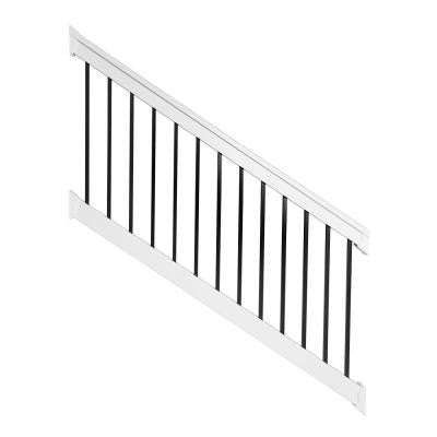 Vilano 3.5 ft. x 96 in. Vinyl White Stair Railing Kit