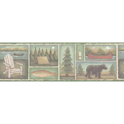 6.75 in. Lake Motif Border
