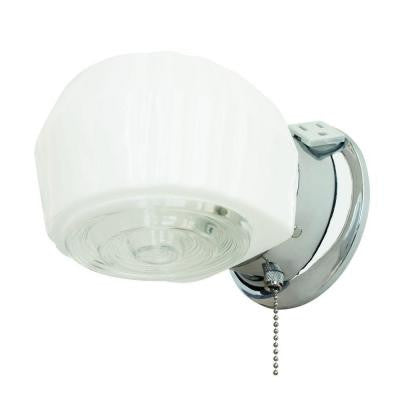 1-Light Chrome Vanity Fixture