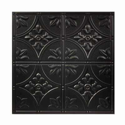 2 ft. x 2 ft. Antique Black Ceiling Tile