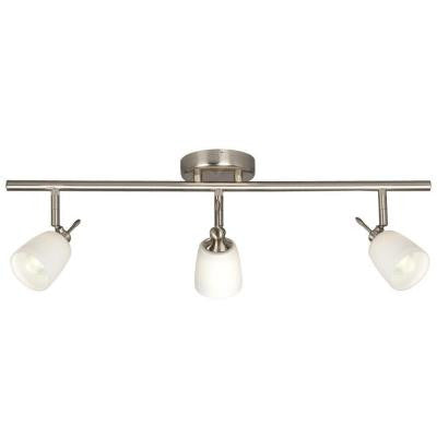 Negron 3-Light Brushed Nickel Track Lighting with Directional Heads