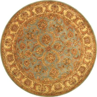 Heritage Blue/Beige 6 ft. Round Area Rug