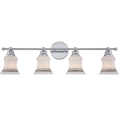 Amairea 4-Light Polished Chrome Bath Vanity Light