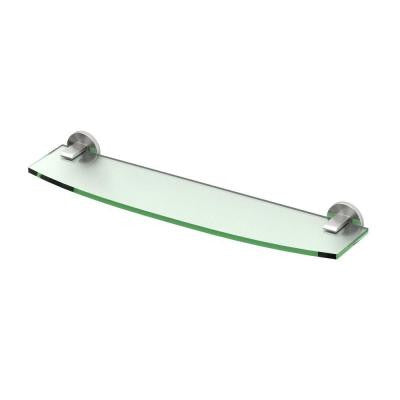 Zone 20.13 in. W Glass Shelf in Satin Nickel