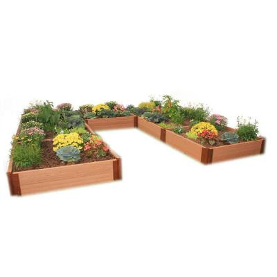 Two Inch Series 12 ft. x 12 ft. x 11 in. Composite U Shaped Raised Garden Bed Kit