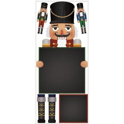 5 in. x 19 in. Nutcracker Chalkboard Peel and Stick Giant Wall Decals