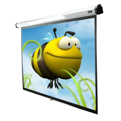 90 in. Electric Motorized Projection Screen with 30 in. Drop
