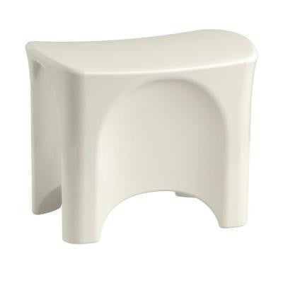 Ensemble 13-1/8 in. x 18-9/16 in. Freestanding Shower Seat in Biscuit