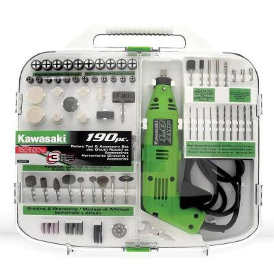 190-Piece Rotary Tool and Accesory Kit