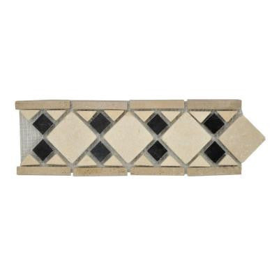 Bellagio 4 in. x 12 in. x 8 mm Marble Accent Strip