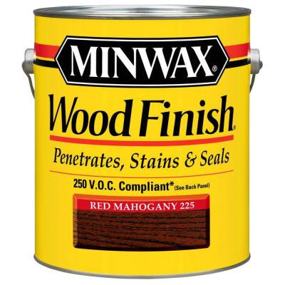 1 gal. Red Mahogany Wood Finish 250 VOC Oil-Based Interior Stain (2-Pack)
