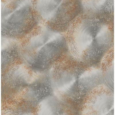 8 in. W x 10 in. H Silver Tarnished Metal Metallic Texture Wallpaper Sample