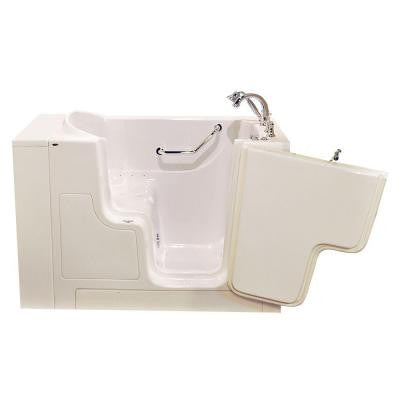 OOD Series 52 in. x 30 in. Walk-In Air Bath Tub with Right Outward Opening Door in Linen