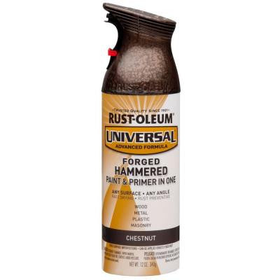 12 oz. All Surface Forged Hammered Chestnut Spray Paint and Primer in One (6-Pack)