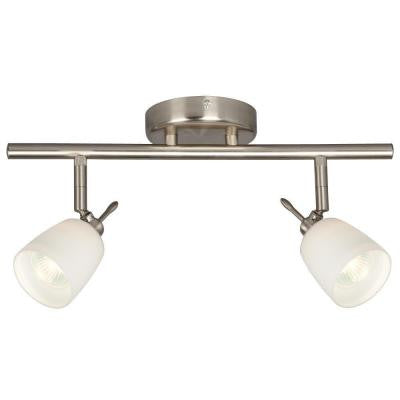 Negron 2-Light Brushed Nickel Track Lighting with Directional Heads