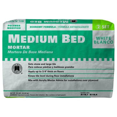 White 50 lb. Medium Bed Mortar