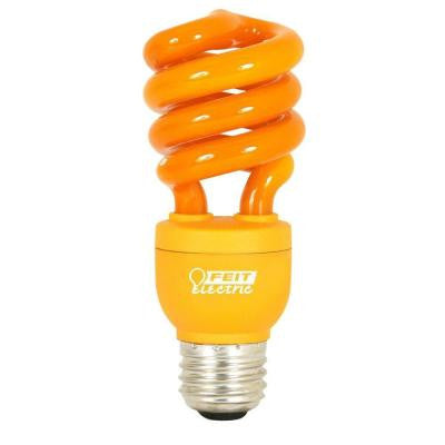 60W Equivalent Orange Spiral CFL Light Bulb