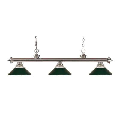 Coastal Nickel 3-Light Brushed Nickel Island Light
