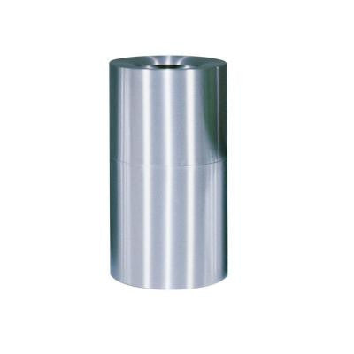 Atrium 35 Gal. Satin Stainless Steel Open Top Trash Can