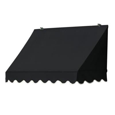 4 ft. Traditional Manually Retractable Awning (Projection 26.5 in.) in Ebony