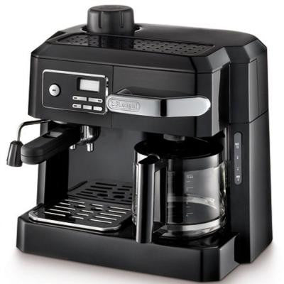 10-Cup Combination Drip Coffee, Cappuccino and Espresso Machine in Black