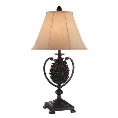 Sonoma 31.5 in. Painted Dark Brown Incandescent Table Lamp (Set of 2)