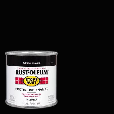 8 oz. Protective Enamel Gloss Black Paint