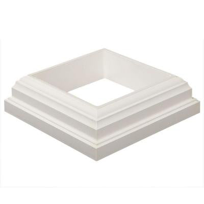 Horizon 4 in. x 4 in. White PVC Post Sleeve Base Moulding