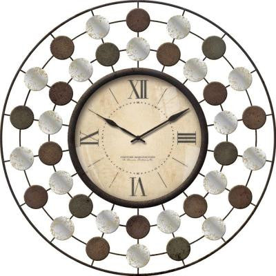 20 in. Round Shasta Wire Wall Clock