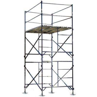 12 ft. x 7 ft. x 5 ft. 2-Story Commercial Grade Scaffold Tower with 1,500 lb. Load Capacity