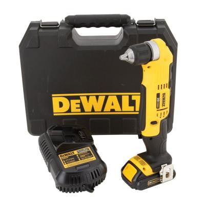 20-Volt Max Lithium-Ion Cordless Compact Right Angle Drill Kit
