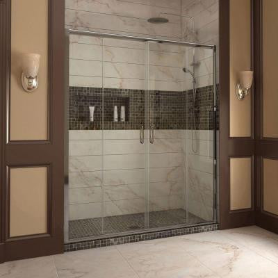 Visions 56 to 60 in. x 72 in. Framed Sliding Shower Door in Chrome