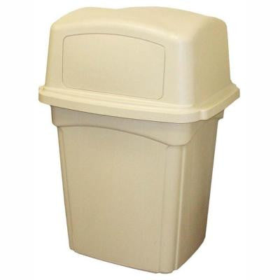 Colossus 45 gal. Beige Trash Can