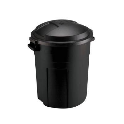 Roughneck 20 Gal. Black Round Trash Can with Lid
