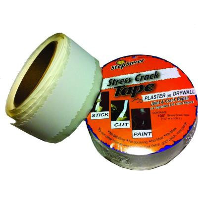 100 ft. x 1-1/2 in. Self-Adhesive Stress Crack Tape Roll (10-Pack)