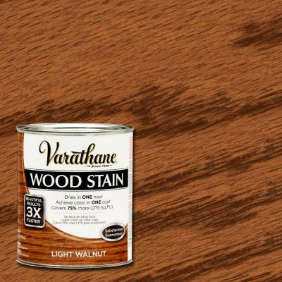 1 qt. 3X Light Walnut Premium Wood Stain (2-Pack)