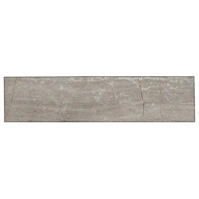 Brushed Wooden Beige 2 in. x 8 in. x 8 mm Marble Mosaic Tile