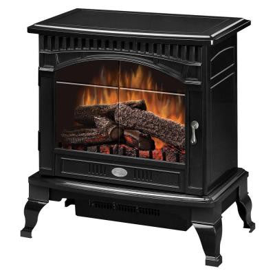 Traditional 400 sq. ft. Electric Stove in Gloss Black