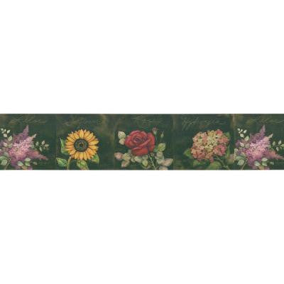 9 in. Old Country Floral Border