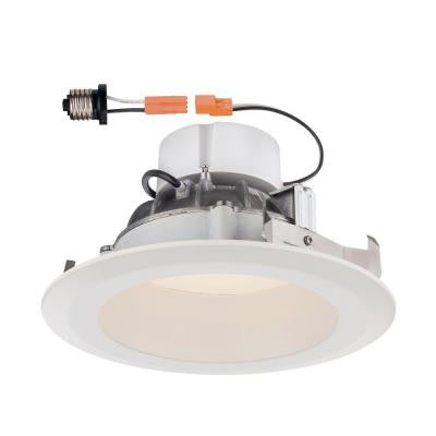 Deep Splay 6 in. White Trim Warm Light 90 CRI LED Recessed Ceiling Light 2700K