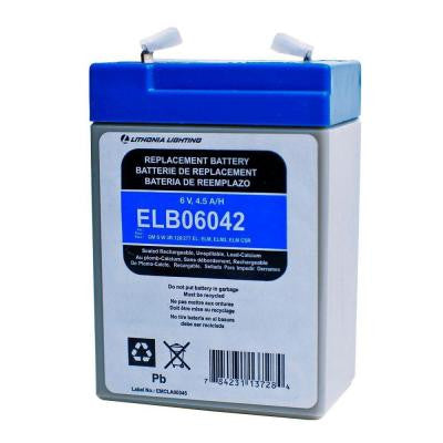 6-Volt Lead-Calcium Plastic Replacement Battery for Emergency/Exit Lighting