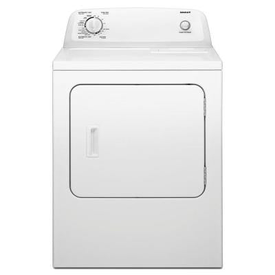 6.5 cu. ft. Gas Dryer in White