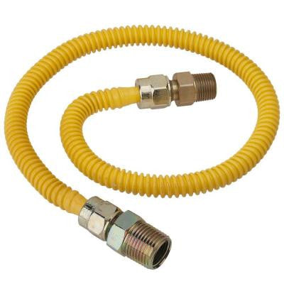 ProCoat 1/2 in. MIP x 3/8 in. MIP x 24 in. Stainless Steel Gas Connector 3/8 in. O.D. Fine Thread (40,000 BTU)